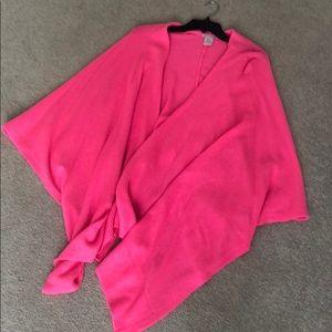 Lily Pulitzer cashmere pink shawl